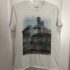 Aeropostale Men's White T-shirt, Sz L